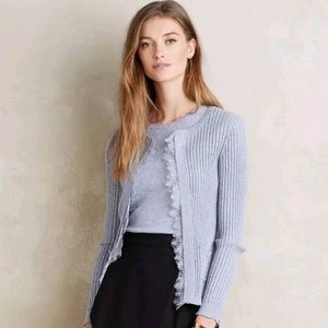 Anthro Knitted & Knotted Periwinkle  Cardigan